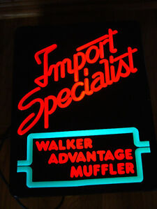 IMPORT SPECIALIST WALKER ADVANTAGE MUFFLER LIGHT-UP SIGN