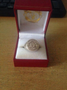 Custom Made Manchester United Silver Rings