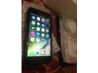 Black iphone 7 plus, 128gb
