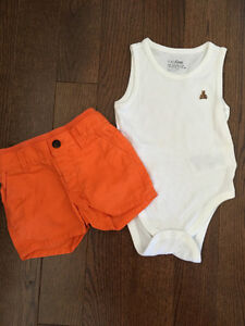 6-12 month baby gap tank and short