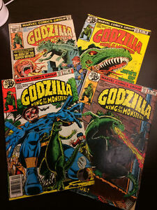 """""""Godzilla"""" comics (4) - Marvel 1978 & 79 - all for only $5 !!"""