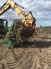 Blue gum stump clearing , land clearing , Padock prep Bairnsdale East Gippsland Preview