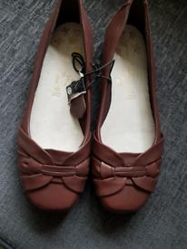 db1b9ac7c42c Brown Ballet style Ladies Shoes Size 8 for sale Deeside, Flintshire