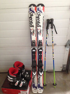 Boys kids Skis with Poles and Boots