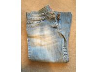 Monsoon size 14 light wash cropped jeans