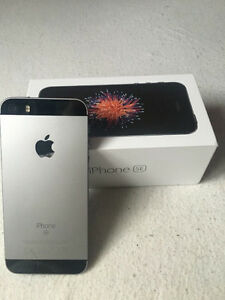 IPHONE 5SE 16GB GREY/BLACK FIDO (BRAND NEW COUPLE OF MONTHS OLD)