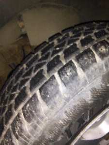 Set of 4 mounted winter tires..90% tread