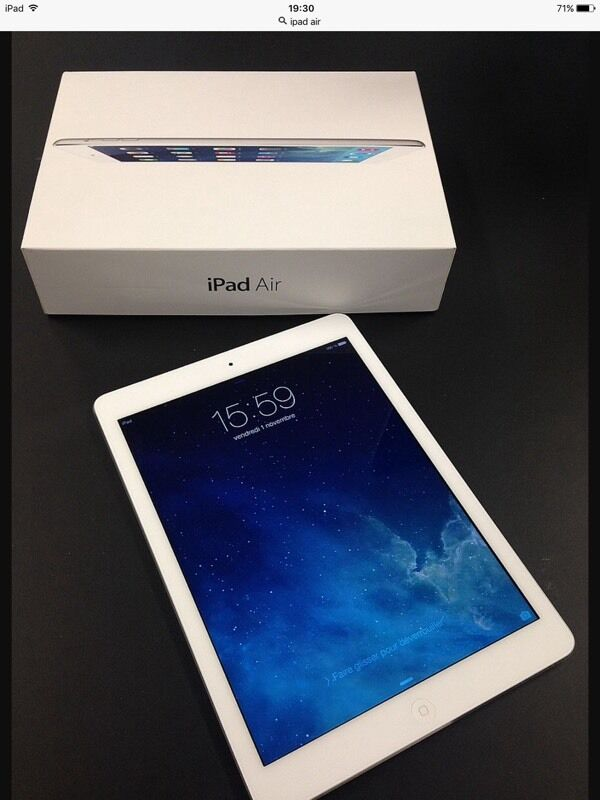 IPAD AIR CELLULAR UNLOCKEDWIFI WHITE AND SILVER WITH SMART COVER FOR SALEin Leicester, LeicestershireGumtree - IPAD AIR CELLULAR UNLOCKED WIFI WHITE AND SILVER WITH SMART COVER As good as new with original box ,charger and USB cable and case from day one have had this iPad in a case with a screen protector,as new no scratches or no mark.used few months ,I am...