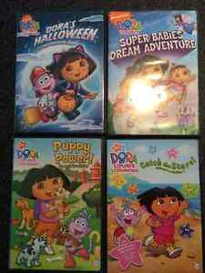DVDS:  Dora, Backyardigans, Franklin, Little Einsteins, Diego
