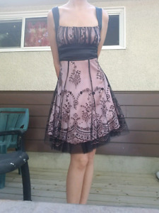 Cute Size 2-4 Formal Pink Lace Dress