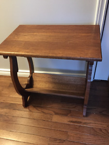 Solid Wood Magazine Side Table