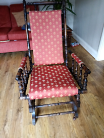 Antique vintage American rocking chair i