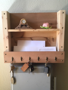 Hand made key and letter holder.