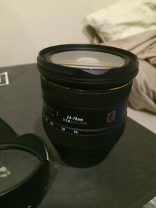 Sigma 24-70mm f2.8 EX DG Lens for CANON (Damaged Filter mount)