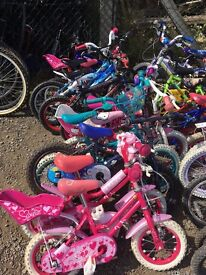 Kids bikes 12 inch up to 20 inch mixed boys and girls