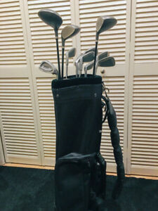 Two sets of golf clubs with bags (priced individually)