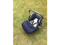 Silver cross buggy and baby car seat