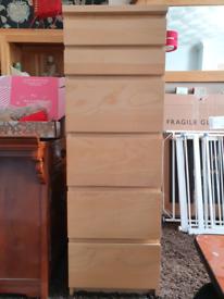 Ikea Malm Tallboy drawers Oak finish