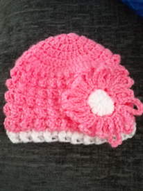 Baby girl crochet hats