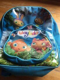 Waybaloo blue kids rucksack