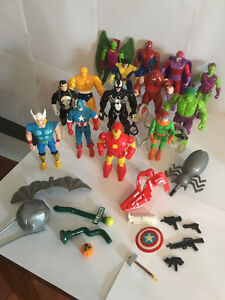 14 Vintage Marvel Comics Action Figures