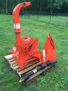 PTO woodchipper - Wallenstein BX32 Kubota Orange