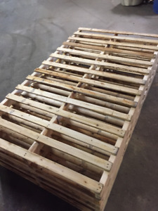 Pallets from New and used lumber