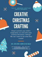 Christmas Creative Crafting! Kids Crafting Event!