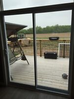 6 month old patio sliding door
