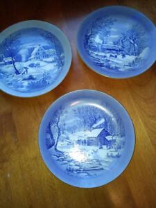 Currier&Ives Plates
