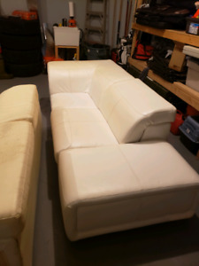 Selling white sectional