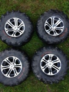 SS atv rims with tires