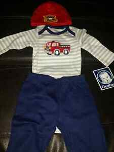 New 0-3 mos 3 piece baby boy outfit