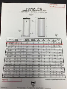 Commercial Electric Hot Water Tank's - 208 Volt 3 Phase