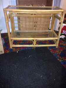 Bamboo Coffee table and matching rectangle shelf. London Ontario image 1
