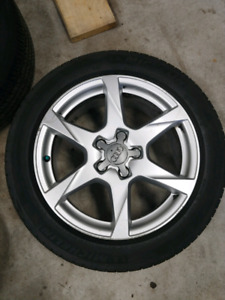 Audi rims and tires 17inch 225/50/17 5x112