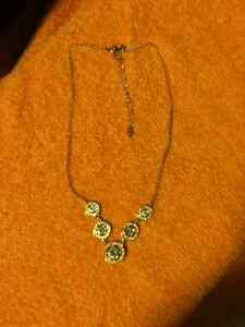 Circles with clear stones Necklace (BRAND NEW)