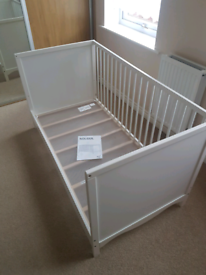 Ikea white cot bed