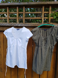 3 Maternity Short Sleeved Tops - Thyme Maternity and Old Navy