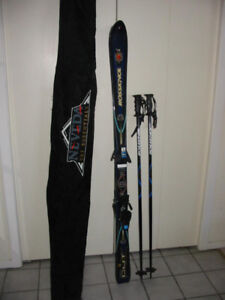 Rossignol 150 cm Super Ten Four parabolic shaped skis.