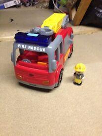 Fire engine and figure