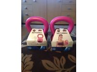 2 x 2.5kg (5.5lb) Pink KettleBells