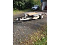 11x6 beaver tailed trailer/car transporter