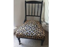 Beautiful pair of antique leopard print chairs £200 ONO