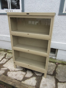 Rare Antique (c1940) METAL Stacking Bookcase