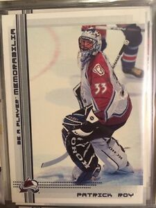2000-01 NHL BE A PLAYER MEMORABILIA 497 CARD SET INCL. ALL RC's