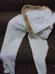 White elation show breeches size 4-6