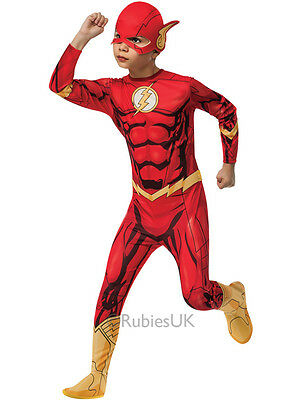 Child The Flash Superhero Boys Outfit Fancy Dress Comic Book Week Kids - The Flash Kids
