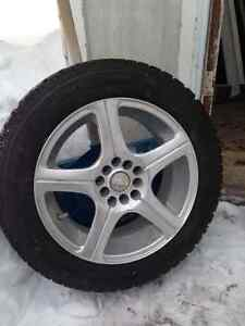 "Snow tires on 16"" rims, like new"