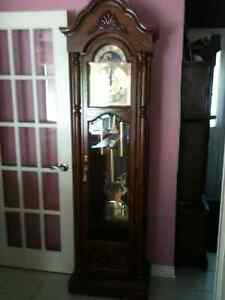 Large Colonial Times Traditional Style Grandfather Clock